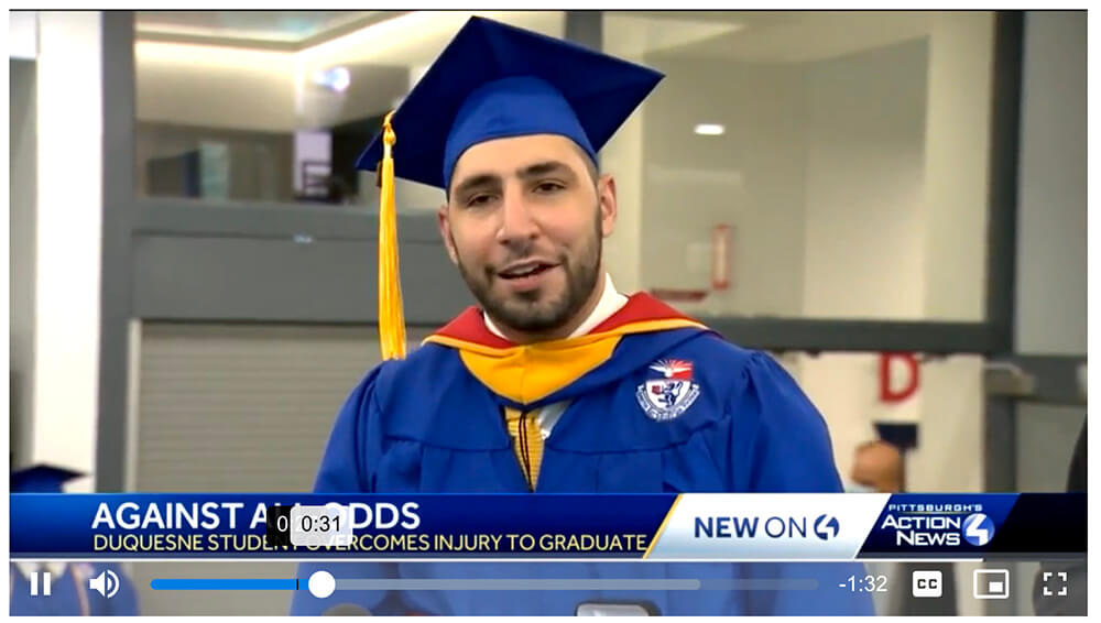 Dylan Braun, Duquesne University graduate
